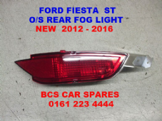 FORD FIESTA ST   MK 9  FOG LIGHT REAR  O/S   DRIVERS SIDE 2012  2013  2014  NEW  NEW